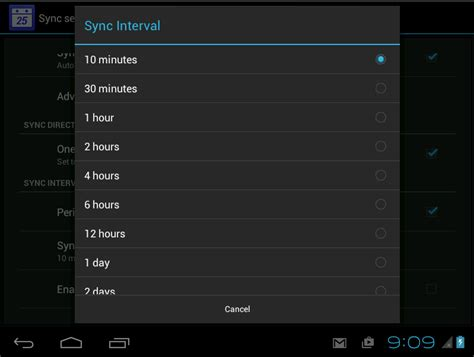 Calendar Update Frequency Android Setup Using Pscalendar With Android