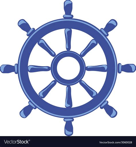 ship wheel ship wheel banner isolated on white background vector image