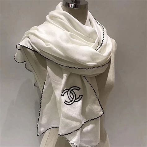 Chanel Cs01 White scarfs ownbestbags