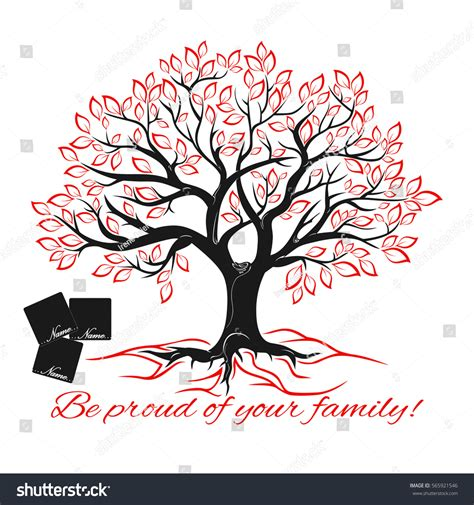 Genealogical Tree Concept Family Tree Template Stock Vector 565921546 Shutterstock Stock Vector Family Tree Template With Portraits Of Relatives And Place For Text On Green