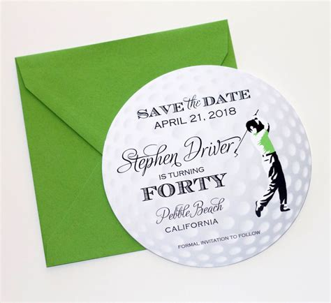 Insead Mba Invitation Dates by Golf Save The Date Card Golf Invitation Golf Themed