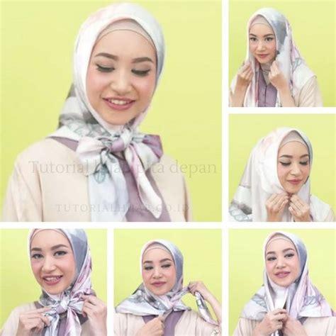 update tutorial hijab pita depan model ikat  dada