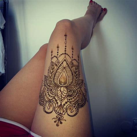 tattoo ideas en thigh henna henna pinterest thigh henna hennas