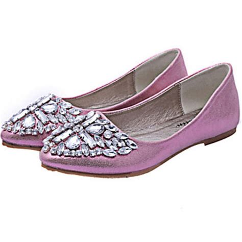 Flat Shoes Pink Silver s shoes nz flat heel pointed toe flats casual pink