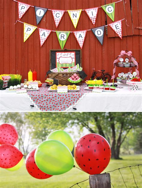 fun summer party ideas picnic party picnic themed party