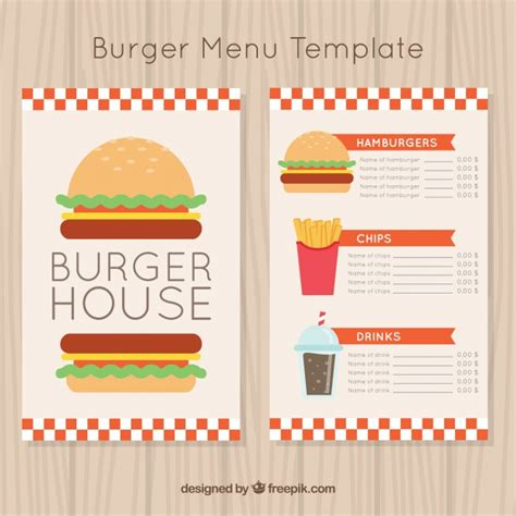 burger menu template vectors of soft drinks free vector graphics