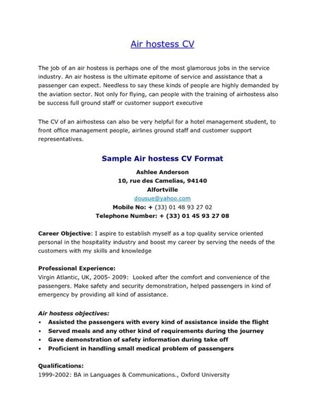 airline ground staff resume format example good resume template