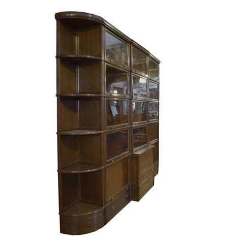 Book Cabinets With Doors Multi Door Book Cabinet With Desk For Sale At 1stdibs