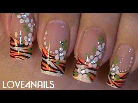 imagenes de uñas decoradas de tigre u 241 as verano ƹӝʒ patr 243 n tigre youtube