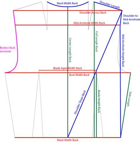 pattern making measurements back bodice measurement key fearless makers