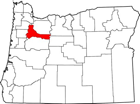 Marion County Oregon Warrant Search File Map Of Oregon Highlighting Marion County Svg Wikimedia Commons