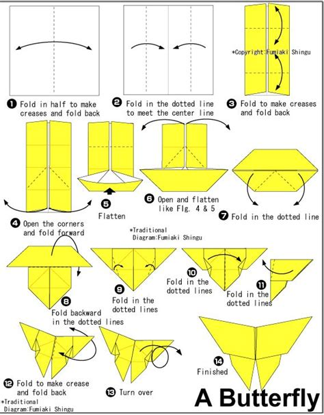 Easy Butterfly Origami - 1000 ideas about origami butterfly on easy