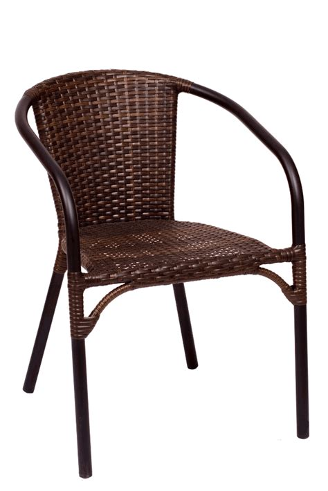 black brown synthetic wicker outdoor restaurant chair
