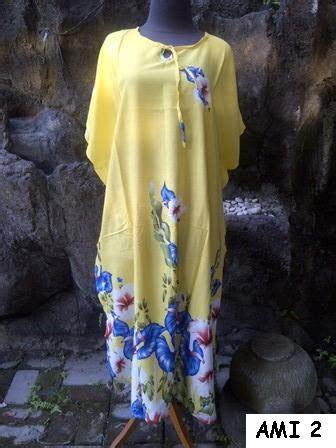 Daster Midi Jumbo Big Size Daster Bali Daster Rayon Motif Kayu baju bali murah daster ami big size