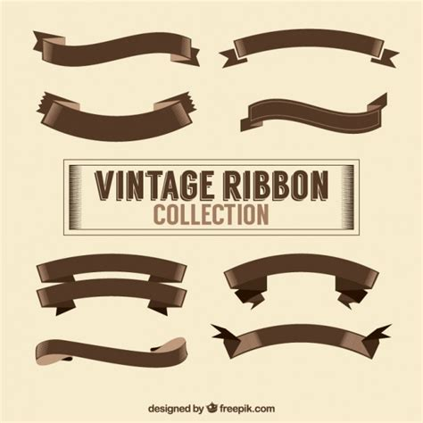 vintage ribbon collection vector