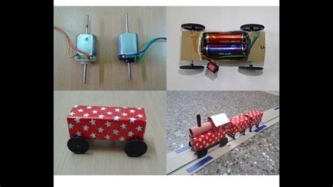 diy toy working train track  dc motor