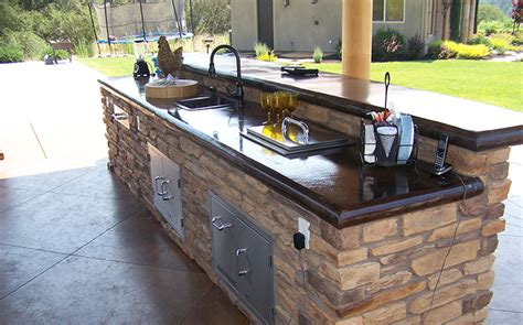 outdoor kitchen countertops outdoor kitchen concrete countertop custom image hardscape