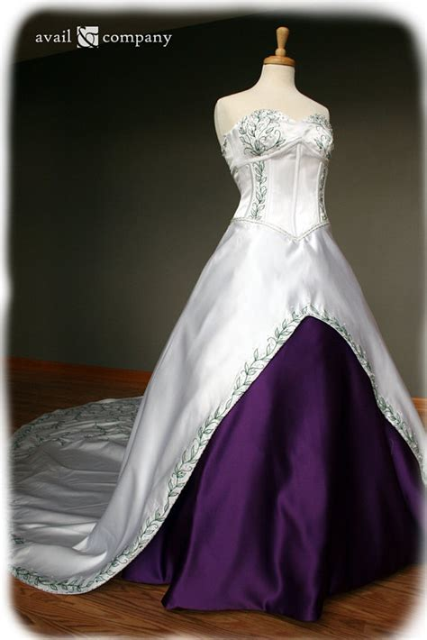 Will You Your Lbd For A Purple Version This Aw by White And Purple Wedding Dress With Green Embroidery Custom