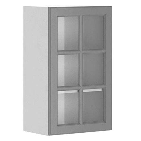 Fabritec 18x30x12 5 In Buckingham Wall Cabinet In White Glass Cabinet Doors Home Depot