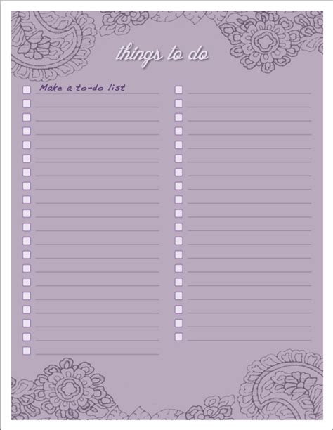 free pretty printable to do list 5 best images of pretty printable to do list free pretty