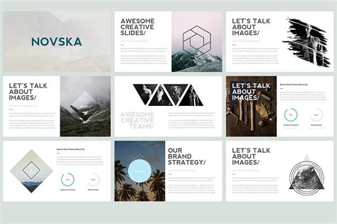 Novska Modern Powerpoint Template Template Train Modern Slides Template
