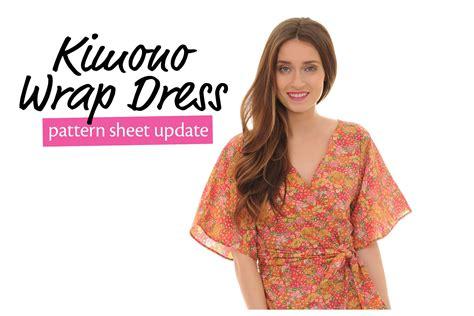 kimono dress pattern uk 187 kimono wrap dress pattern sheet update