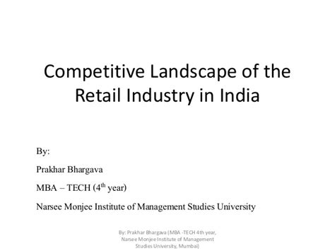 In Retail Industry For Mba by Competitive Landscape Of The Retail Industry In India