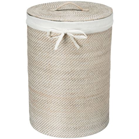 wicker laundry with liner kouboo rattan laundry her with cotton liner reviews wayfair ca