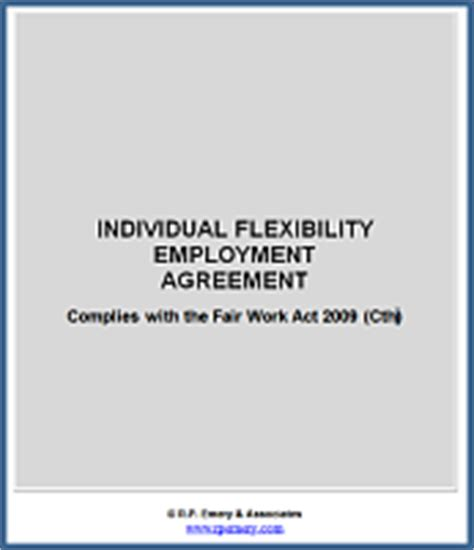 individual flexibility agreement template individual employment contract