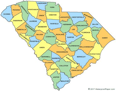map of carolina with county names printable south carolina maps state outline county cities