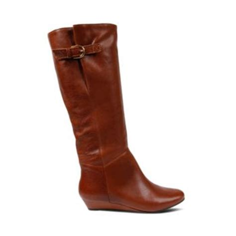 knee high brown black wedge boots steve madden intyce