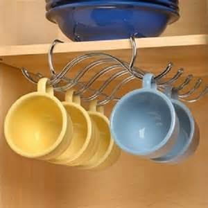 shelf coffee cup mug holder hanging rack cabinet