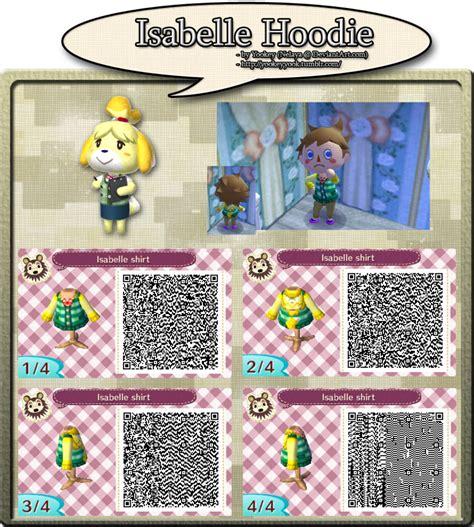 design clothes new leaf isabelle hoodie qr code by yookeyyook on deviantart