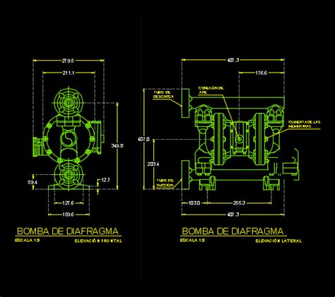 diaphragm pump dwg detail  autocad designs cad