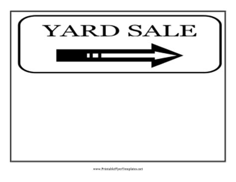 Yard Sale Flyer Garage Sale Sign Template Word