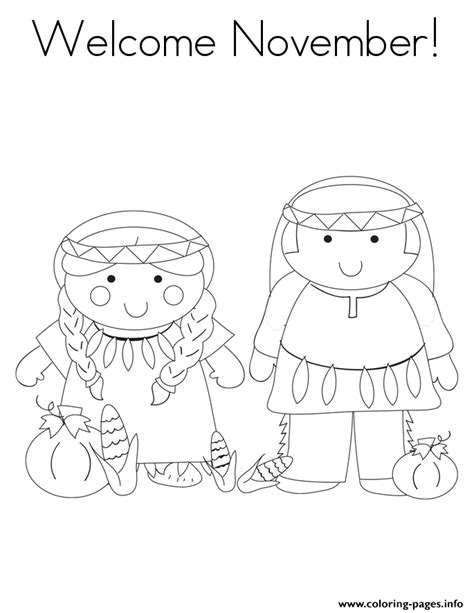 Welcome November Coloring Pages | welcome november coloring pages printable