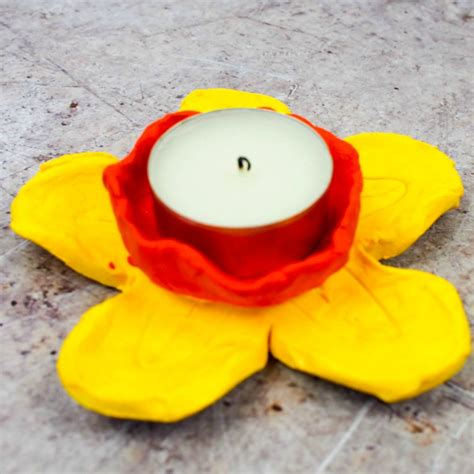 clay craft projects diy daffodil clay pots or candle holders in the madhouse