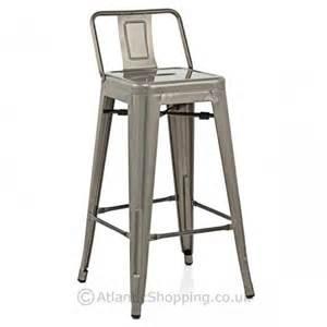 breakfast bar stools with backs replica tolix with back kitchen breakfast bar stool ebay