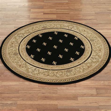 round accent rug regent fleur de lis round area rugs