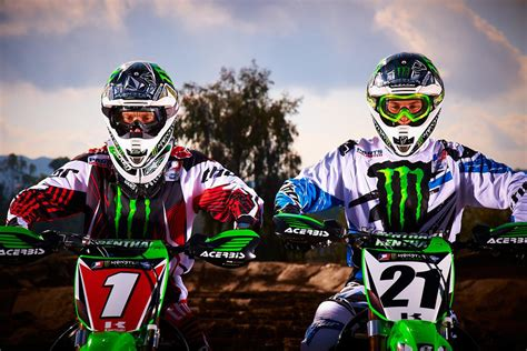ama motocross sign ryan villopoto and jake weimer re sign with monster energy
