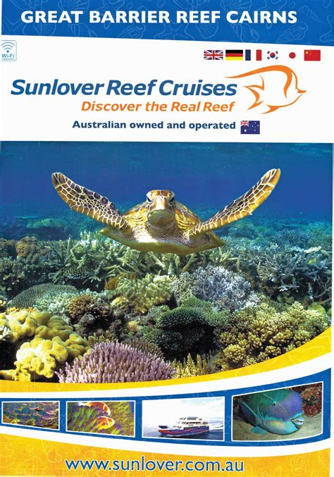 sunlovers books sunlover reef cruises cairns local tourism network