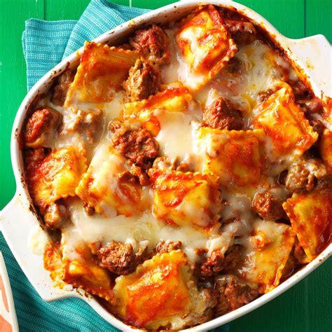 Handmade Ravioli Recipe - ravioli lasagna recipe taste of home