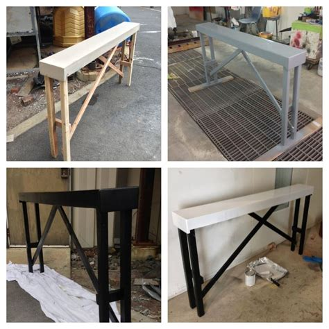 diy behind the couch table diy sofa table home pinterest