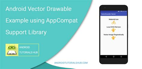 tutorial vector di android android vector drawable exle using appcompat support