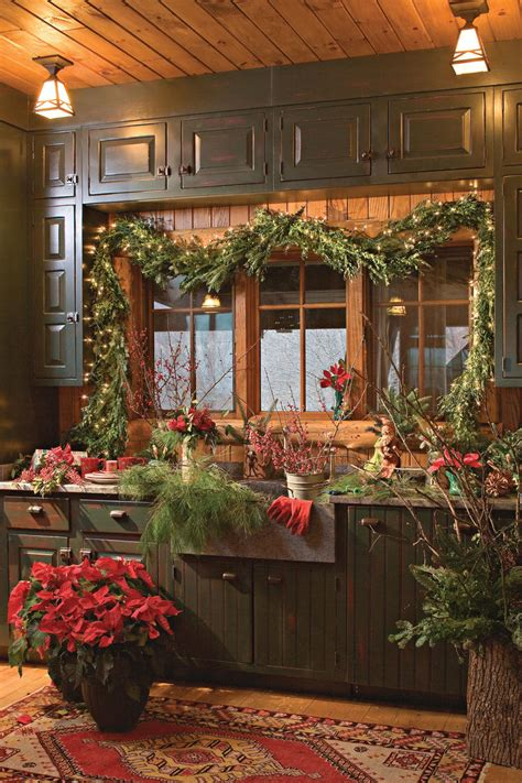 rustic christmas decor southern living nature inspired holiday decor in the mountains southern
