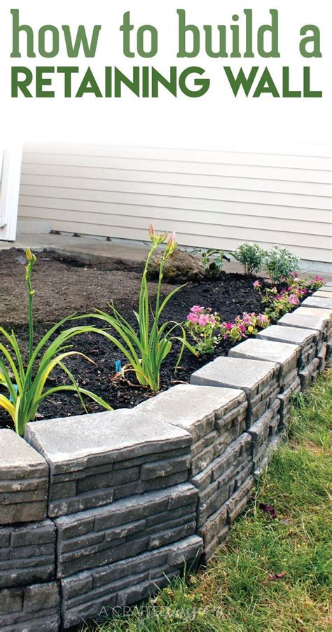 25 best ideas about diy retaining wall on