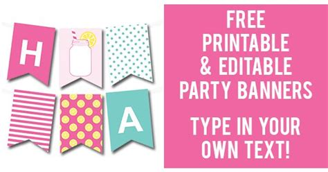 make a printable birthday banner lots of free printable party banners from chicfetti you