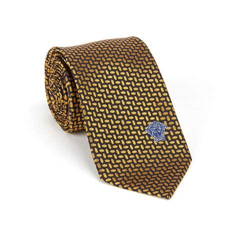 gold pattern ties versace collection silk tie navy gold oval pattern