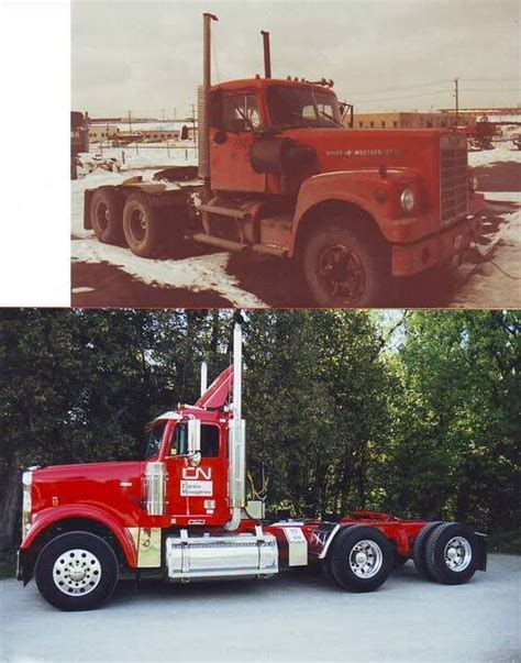 early seventies white western star  based   kitchener  freightliner classic