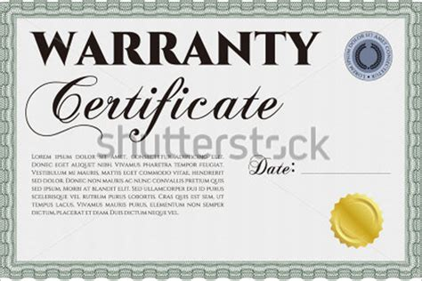 Guarantee Card Template by Warranty Certificate Templates Free Premium Sles